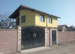 Ready to move in house, with high brick fence and parking lot, just 10min drive to Burgas!